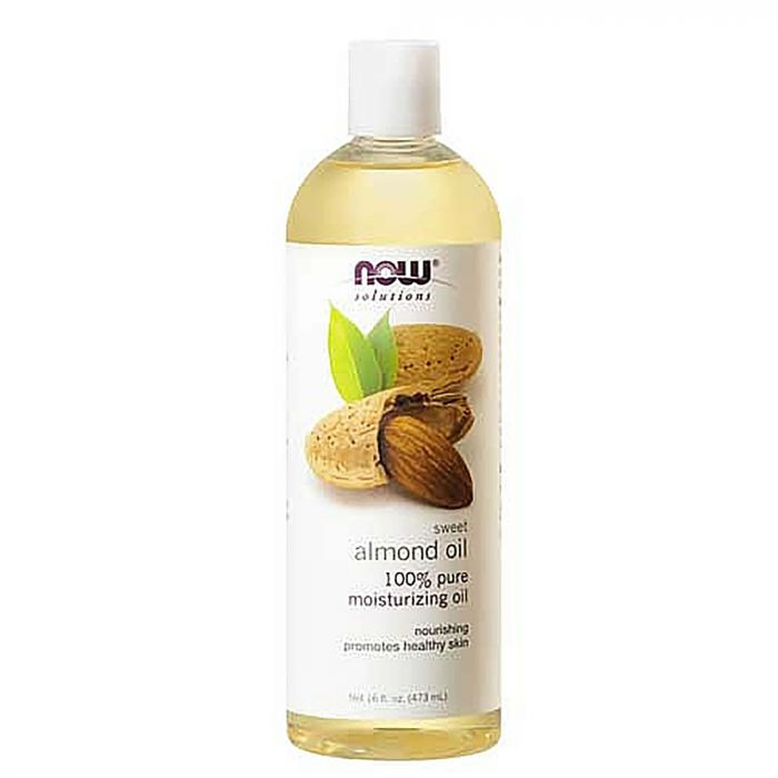 NOW SWEET ALMOND OIL 100% PURE MOISTURIZING OIL FOR HEALTHY SKIN 473ML