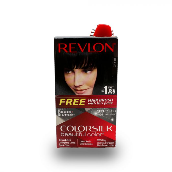 REVLON COLOR SILK  3D -BLACK 1N