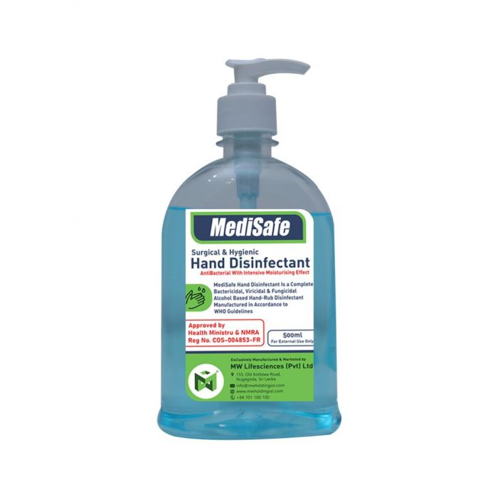 MEDISAFE SURGICAL & HYGIENIC HAND DISINFECTANT 500 ML