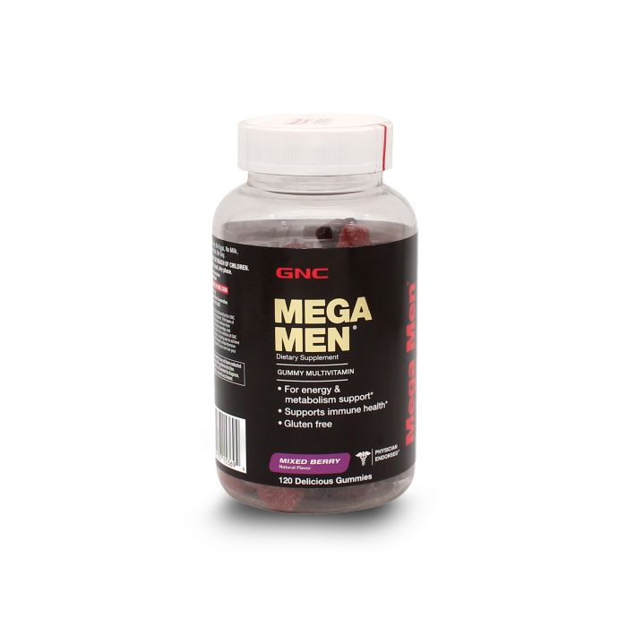 GNC MEGA MEN MIXED BERRY 120GUM 102991