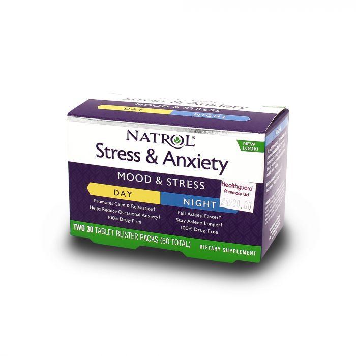 NATROL STRESS & ANXIETY 30 TAB