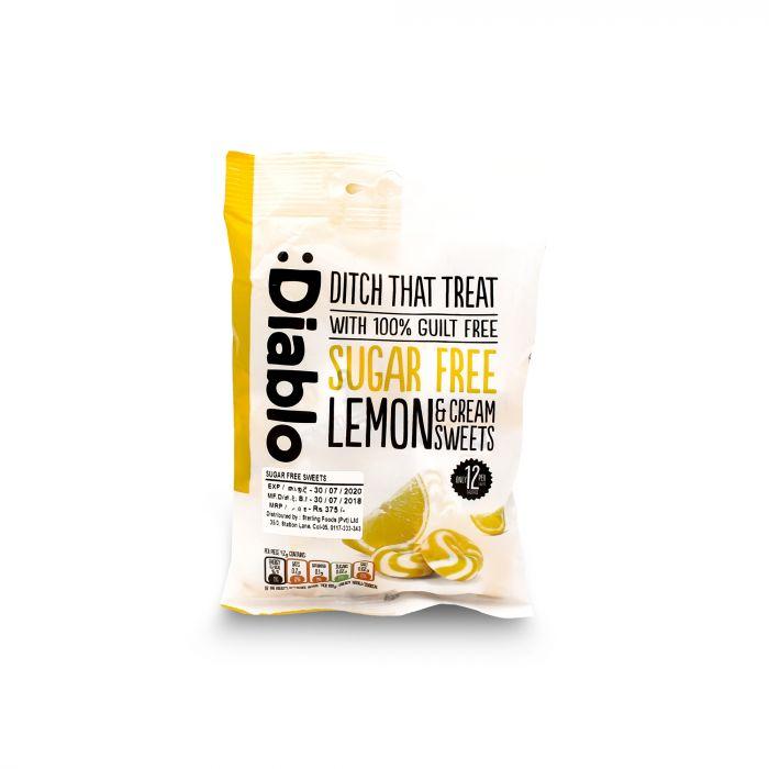 DIABLO  SUGER FREE LEMON & CREAM 75G