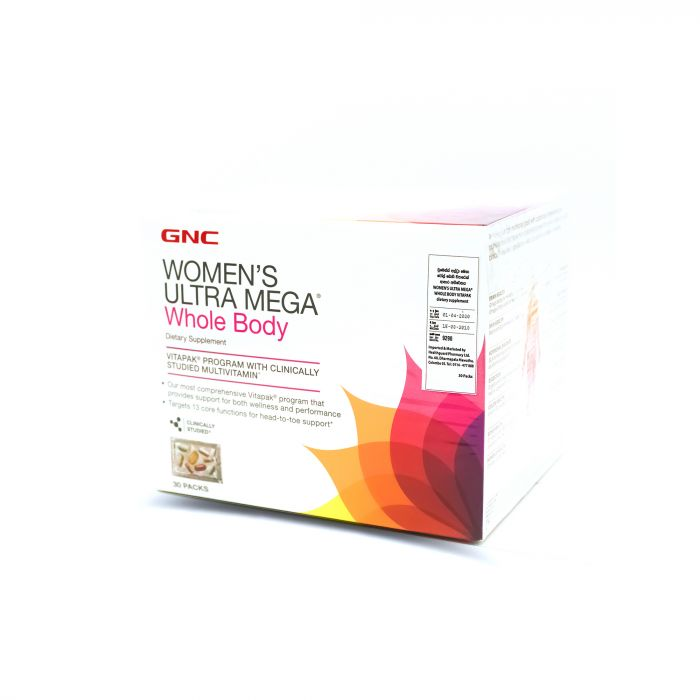 GNC WOMENS ULTA MEGA WHOLE BODY 30 PACKS