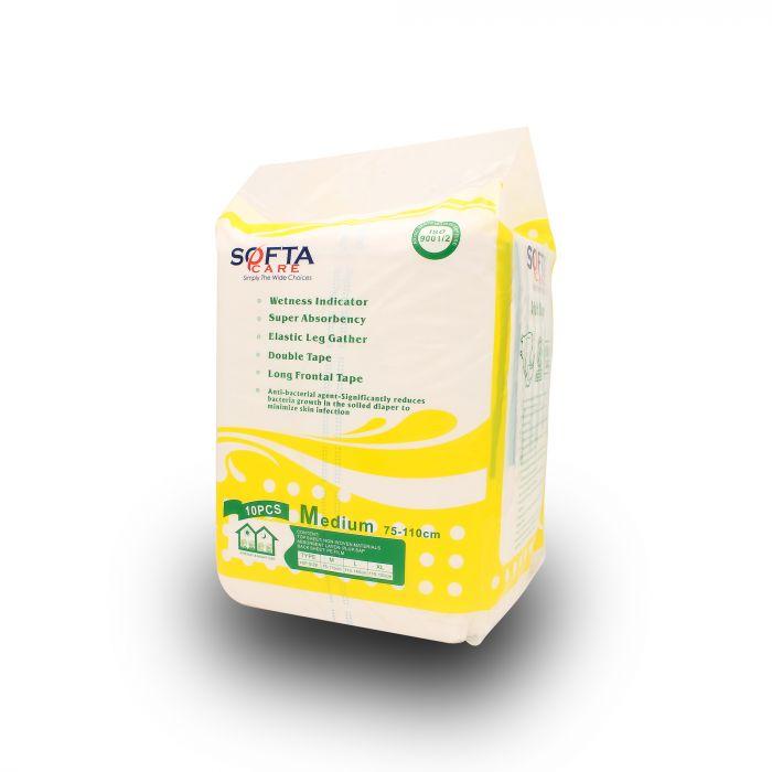 SOFTA CARE ADULT DIAPER 10PCS M