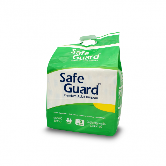 SAFE GUARD ADULT DIAPERS 10 S