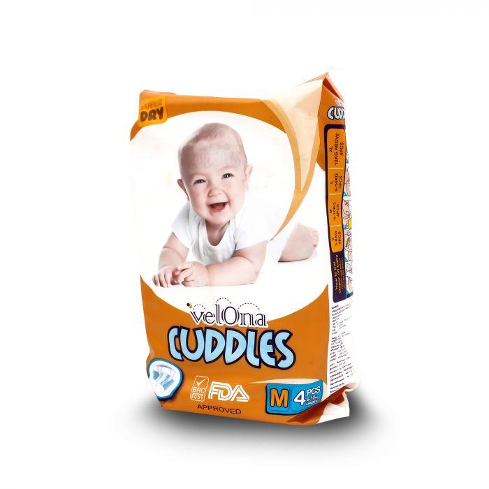 VELONA CUDDLES BABY DIAPERS MEDIUM 4S