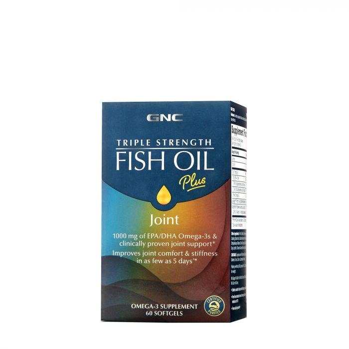 GNC TRIPLE STRENGTH FISH OIL PLUS JOINT SOFTGELS 60S