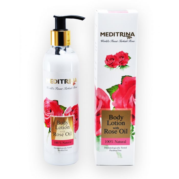 MEDITRINA BODY LOTION WITH ROSE OIL 250ML
