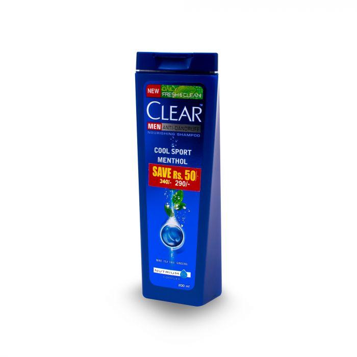CLEAR MEN  MENTHOL SPORT  SHAMPOO 200ML