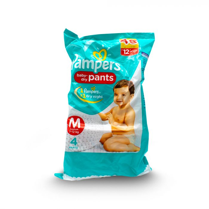 PAMPERS BABY DIAPERS DRY PANTS M 4S
