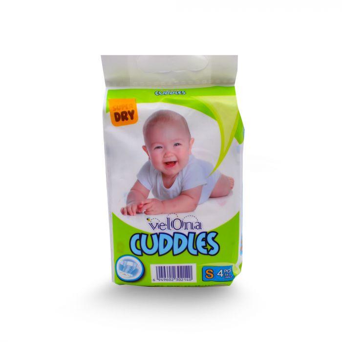 VELONA NEW BORN BABY DIAPERS SMALL 4PCS