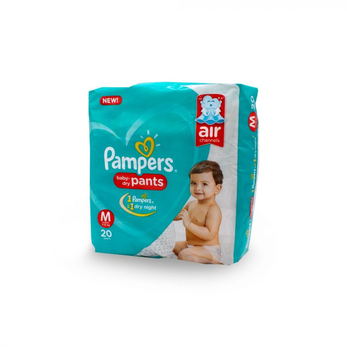 PAMPERS BABY DIAPERS DRY PANTS M20S