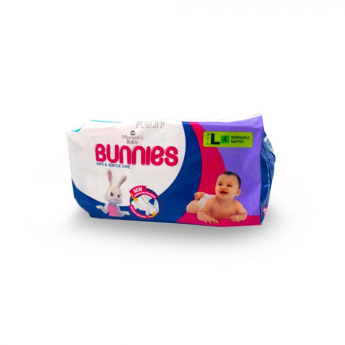 MORISONS BABY DIAPER BUNNIES 4S LARGE