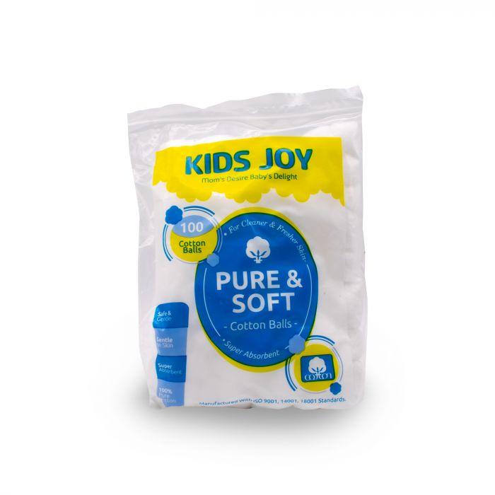 KIDS JOY COTTON BALLS 100 S