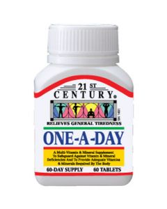 21 ST CENTURY ONE A DAY TAB 60S