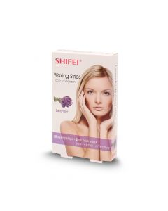 SHIFEI FACE WAXING STRIPS LAVENDER 20S