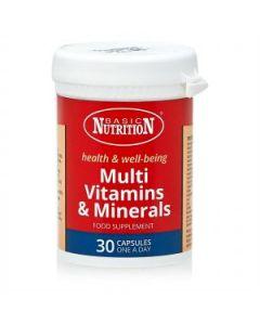 BASIC NUTRITION MULTIVITAMINS & MINERALS 30'S