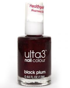 ULTA3 NAIL POLISH BLACK PLUM