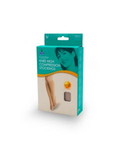 OPPO 2802 (L) 4 Compression Stockings (B/K) Class 2