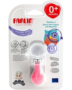FARLIN DELUXE NAIL CLIPPER WITH MAGNIFIER  BC-50006