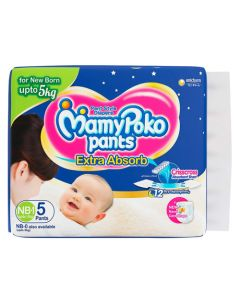 MAMY POKO DIAPER PANT NEW BORN 5 S