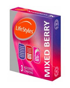 LIFESTYLE MIXED BERRY CONDOM 3s