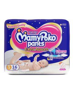 MAMY POKO DIAPER PANT SMALL 16 S